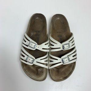 Birkenstock Multi Strap White Sandals 38